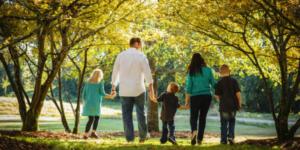 family-strolling-outside
